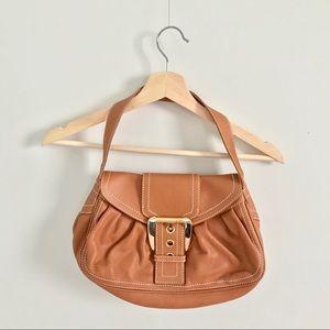 Authentic Celine leather shoulder bag